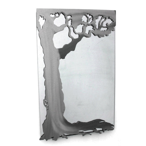 Metallic Evolution Steel Tree Mirror Large MTR-523, Artistic Artisan Designer Mirrors