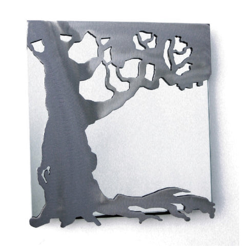 Metallic Evolution Steel Tree Mirror Small MTR-112, Artistic Artisan Designer Mirrors