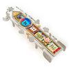 Mezuzahs, Seeka Column of Blessing Mezuzah 1450161, Hand Painted, Stainless Steel, Austrian Crystal, Beads, Artistic Artisan Judaica