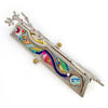 Mezuzahs, Seeka Tree Of Life Mezuzah 1450384, Hand Painted, Stainless Steel, Austrian Crystal, Beads, Artistic Artisan Judaica