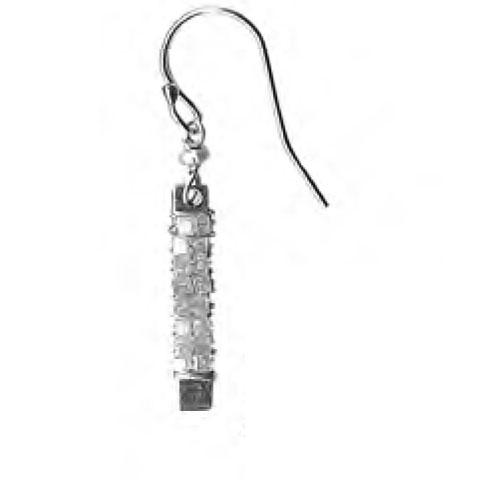 Michelle Pressler Jewelry Earrings D102 with Grey Diamonds Artistic Artisan Crafted Jewelry