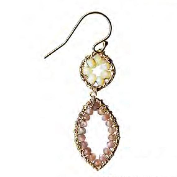 Michelle Pressler Ethiopian Opal Chocolate Moonstone Earrings 4731A Artistic Artisan Designer Jewelry