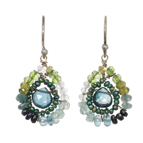 Michelle Pressler Jewelry Earrings London Topaz 2362, Artistic Artisan Designer Jewelry