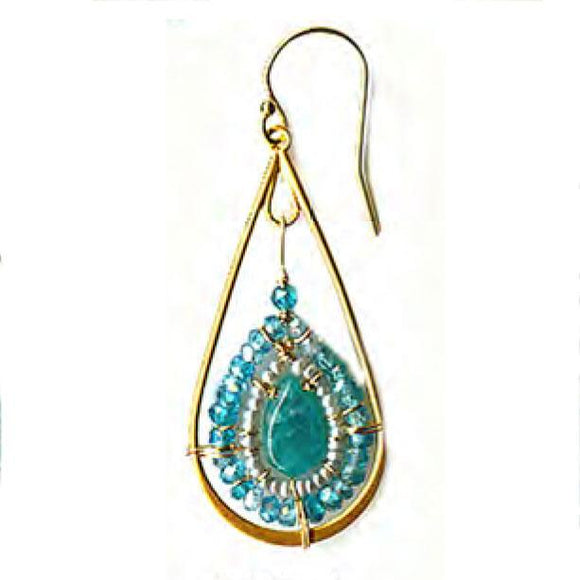 Michelle Pressler Jewelry Turquoise Mix Earrings 2499A Artistic Artisan Designer Jewelry