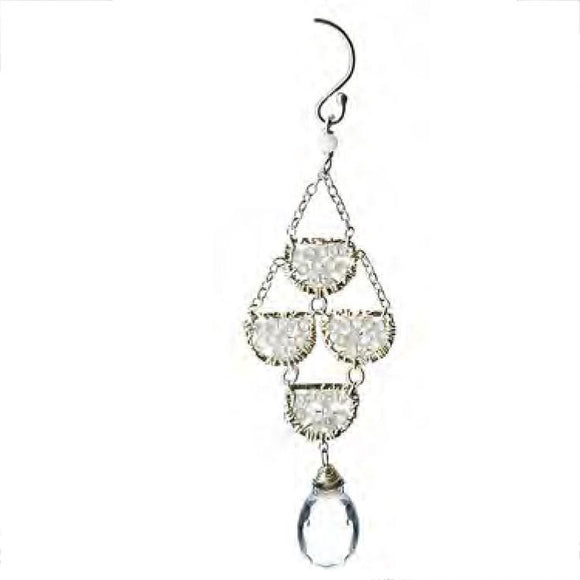 Michelle Pressler Zircon Crystal Quartz Earrings 4629 Artistic Artisan Designer Jewelry