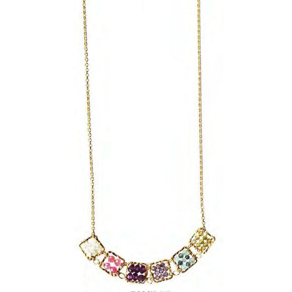 Michelle Pressler Jewelry Necklace 4440 SM with Opal, Moonstone Garnet Multispinel and Sapphire Artistic Artisan Crafted Jewelry