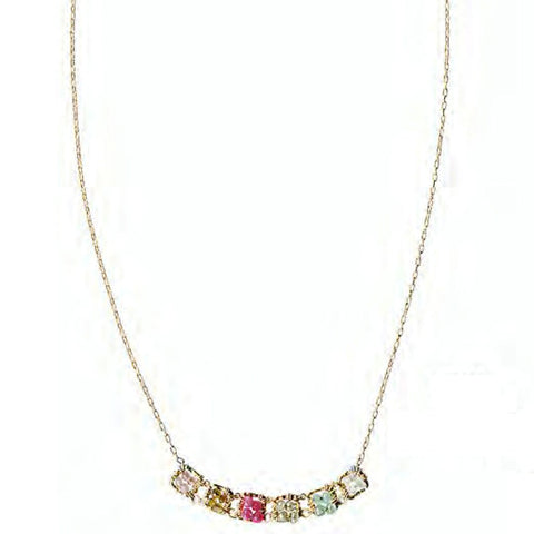 Michelle Pressler Jewelry Necklace 5140 with Mixed Gemstones Artistic Artisan Crafted Jewelry