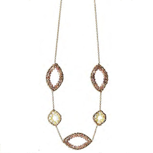 Michelle Pressler Ethiopian Opal Chocolate Moonstone Necklace 4728A Artistic Artisan Designer Jewelry