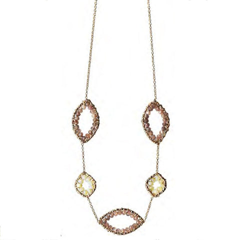 Michelle Pressler Jewelry Ethiopian Opal Chocolate Moonstone Necklace 4728A Artistic Artisan Designer Jewelry