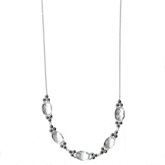 Michelle Pressler Jewelry Pyrite Crystal Quartz Necklace 4804 Artistic Artisan Designer Jewelry