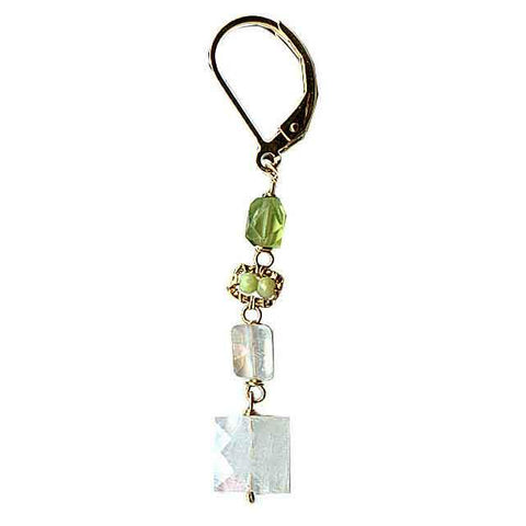 Michelle Pressler Jewelry Peridot Earrings 4694 with Moonstone Artistic Artisan Designer Jewelry