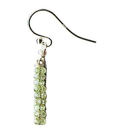 Michelle Pressler Wrapped Bars Earrings 4934 with Green Kyanite Artistic Artisan Designer Jewelry