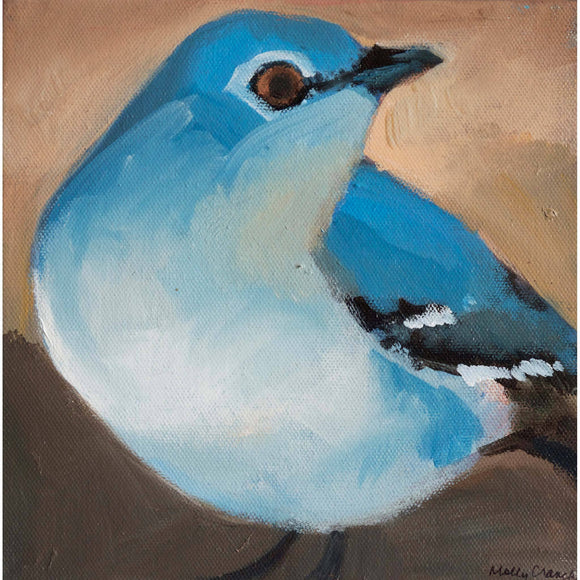 Molly Cranch Artist Painting Mockingbird 8x8 OL10 Original One Of A Kind Acrylic Painting