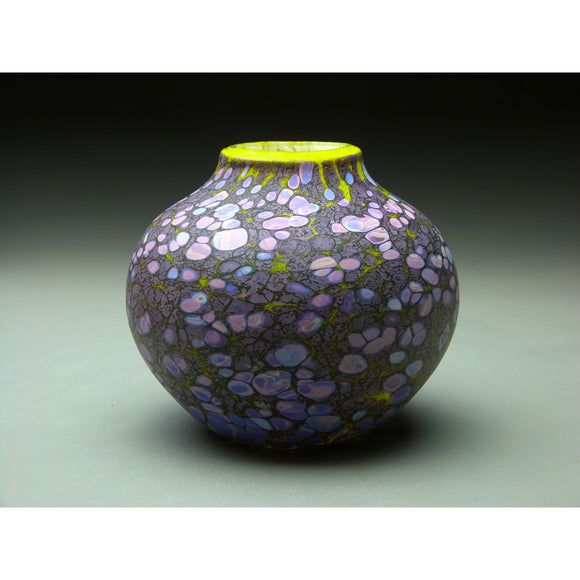 Native Vessel in Purple Handblown Glass Vase by Thomas Spake Studios Artisan Handblown Art Glass Vases