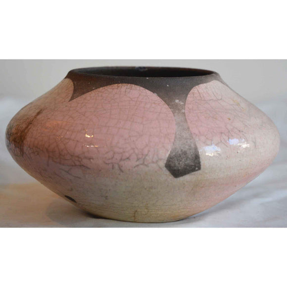 Norman Bacon Raku Vessel NB544 1 Art Pottery