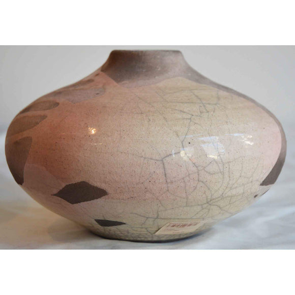 Norman Bacon Raku Vessel NB544 Art Pottery