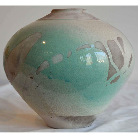 Norman Bacon Raku Vessel NB575 1 Art Pottery