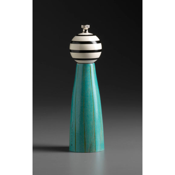 Wood Salt Shaker or Pepper Mill-Grinder Grooved G-1 by Raw Design by Robert Wilhelm Artistic Artisan Designer Wooden Salt and Pepper Mill Grinders