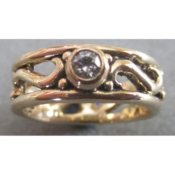 Richelle Leigh 14Kt. Gold Diamond Swirl Band R70YG Artistic Designer Handcrafted Jewelry