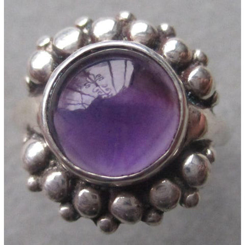 Richelle Leigh Sterling Silver Modern Geometric Amethyst Statement Ring R110SSA Artistic Designer Handcrafted Jewelry