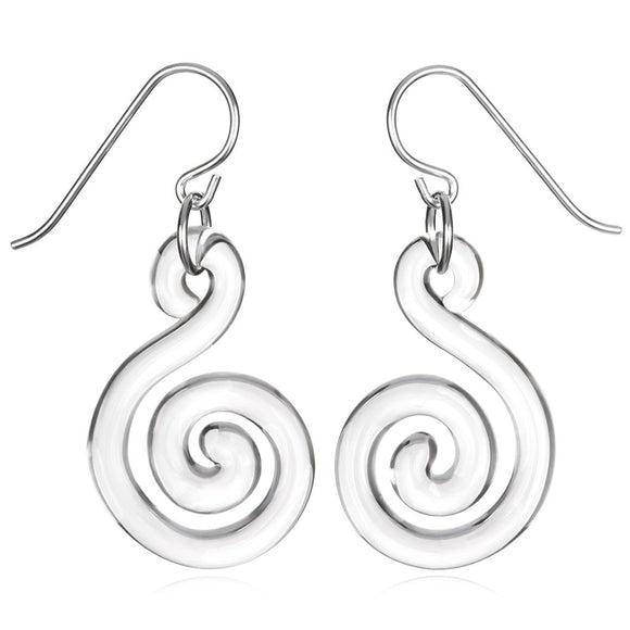 Roxann Astra Flat Spiral Earrings, Artistic, Designer, Artisan Jewelry