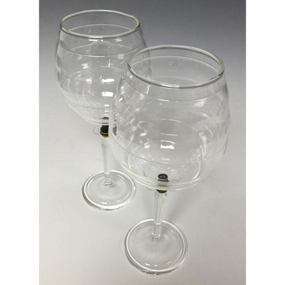 Sage Studios Glass Beehive Goblets Set of Two Bees Line Functional Art Glass Drinkware