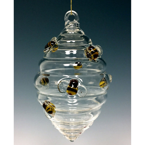 Sage Studios Glass Beehive Ornament Art Glass Ornaments