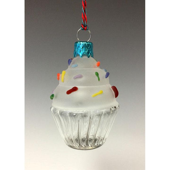 Sage Studios Glass Cupcake Ornament Art Glass Ornaments