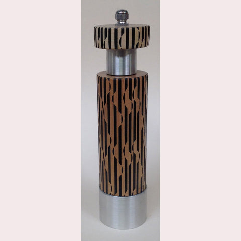 Salt and Pepper Mill Grinder by Robert Wilhelm Raw Design Limited Edition A Eight Inch Laser Etched Artistic Designer Salt and Pepper Shakers Mills Grinders