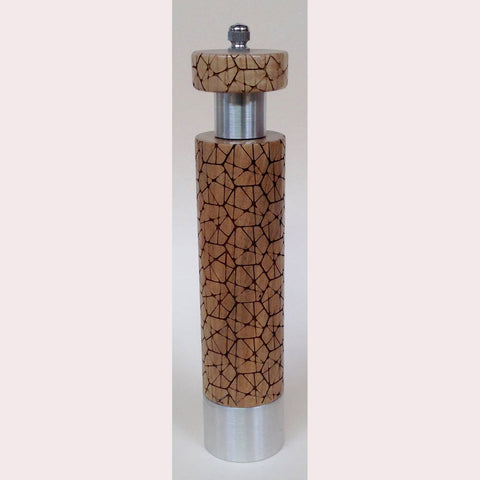 Salt Pepper Mill Grinder by Robert Wilhelm of Raw Design Limited Edition Eight and Ten Inch Laser-Etched