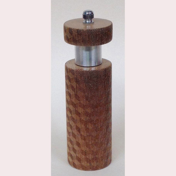 Salt and Pepper Mill Grinder by Robert Wilhelm Raw Design Limited Edition A Six Inch Laser Etched Artistic Designer Salt and Pepper Shakers Mills Grinders