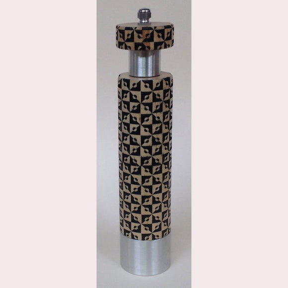 Salt and Pepper Mill Grinder by Robert Wilhelm Raw Design Limited Edition A Ten Inch Laser Etched Artistic Designer Salt and Pepper Shakers Mills Grinders
