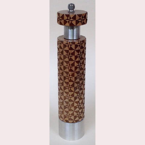 Salt and Pepper Mill Grinder by Robert Wilhelm Raw Design Limited Edition B Eight and Ten Inch Laser Etched Artistic Designer Salt and Pepper Shakers Mills Grinders