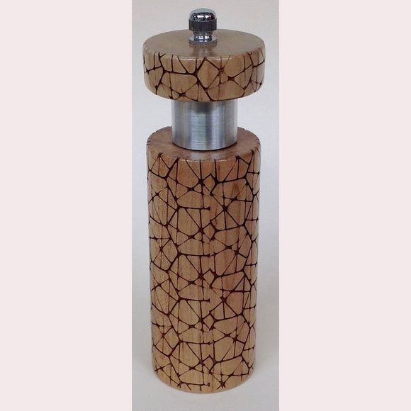 Salt and Pepper Mill Grinder by Robert Wilhelm Raw Design Limited Edition Six Inch Laser Etched Artistic Designer Salt and Pepper Shakers Mills Grinders