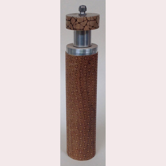 Salt and Pepper Mill Grinder by Robert Wilhelm Raw Design Limited Edition Ten Inch Laser Etched Artistic Designer Salt and Pepper Shakers Mills Grinders