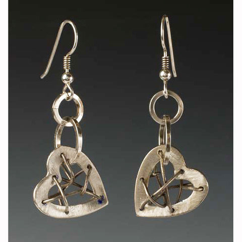 Sherri Cohen Design Mended Heart Earrings, Artistic Artisan Designer Jewelry