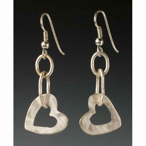 Sherri Cohen Design Open Your Heart Earrings, Artistic Artisan Designer Jewelry