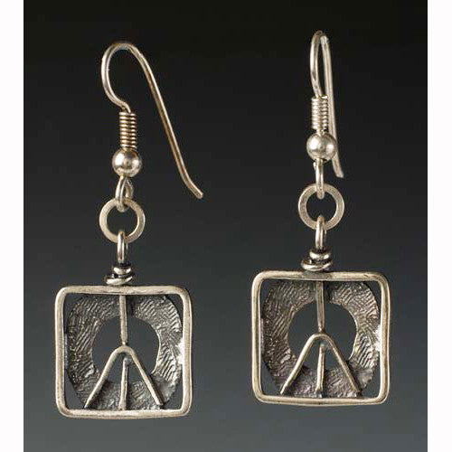Sherri Cohen Design Peace In A Box Earrings, Artistic Artisan Designer Jewelry