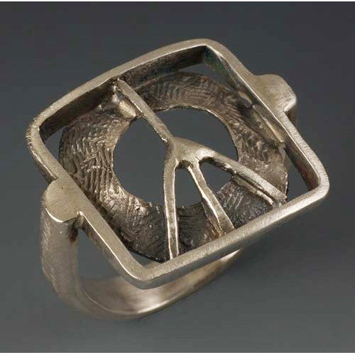 Sherri Cohen Design Peace In A Box Ring, Artistic Artisan Designer Jewelry