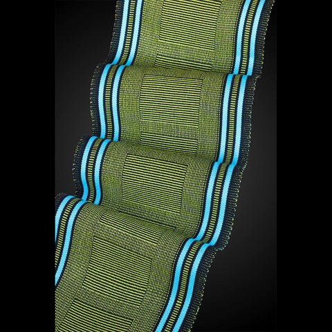 Sosumi Weaving by Pamela Whitlock Beemer Scarf in Lime and Turquoise Artistic Handwoven Scarves