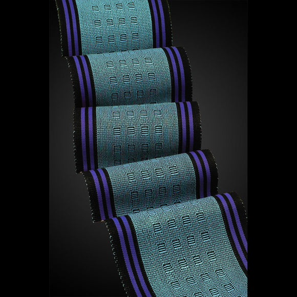 Sosumi Weaving by Pamela Whitlock Megala Scarf in Iriquois and Limoges Artistic Handwoven Scarves