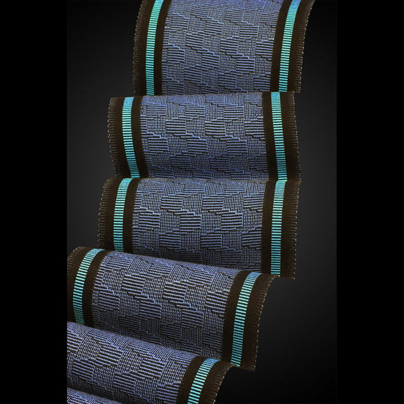Sosumi Weaving by Pamela Whitlock RED Scarf in Perfect Blue and Turquoise Artistic Handwoven Scarves
