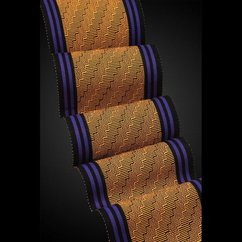 Sosumi Weaving by Pamela Whitlock Steps Tangerine Limoges Artistic Handwoven Scarves