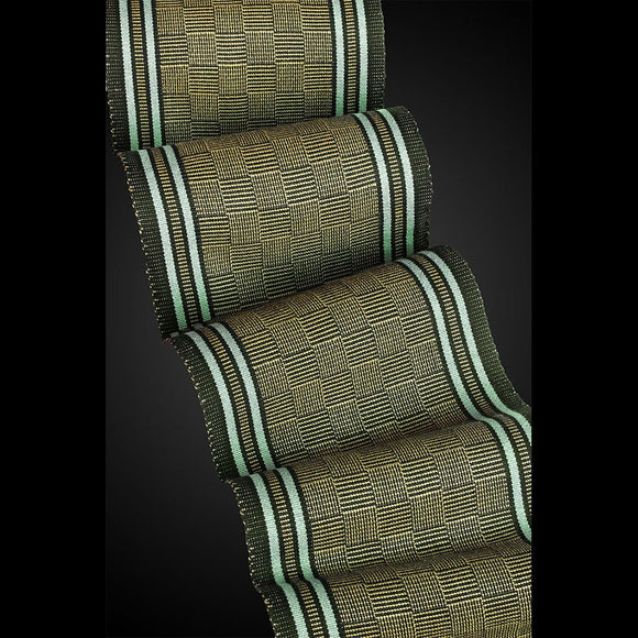 Sosumi Weaving by Pamela Whitlock Terri Chex Scarf in Green Tea and Spruce Artistic Handwoven Scarves