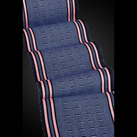 Sosumi Weaving by Pamela Whitlock Wink Scarf in Periwinkle and Coral Artistic Handwoven Scarves