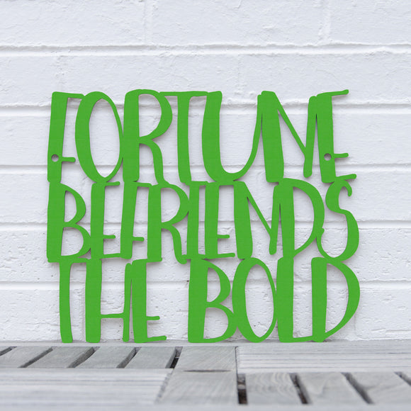 Spunky Fluff Artful Sign Fortune Befriends The Bold Artistic Cut Out Wood Signs Inspirational word art for your wall