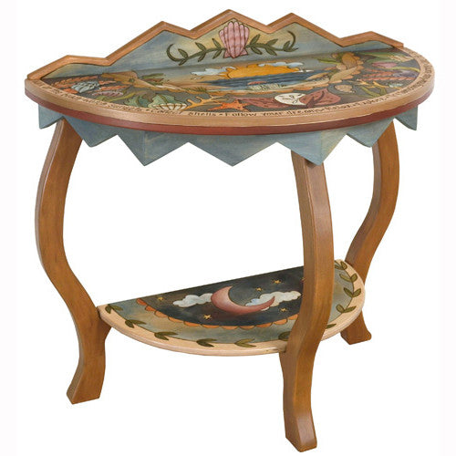 Sticks Accent Half Round Table Hal002 D76955, Artistic Artisan Designer Tables