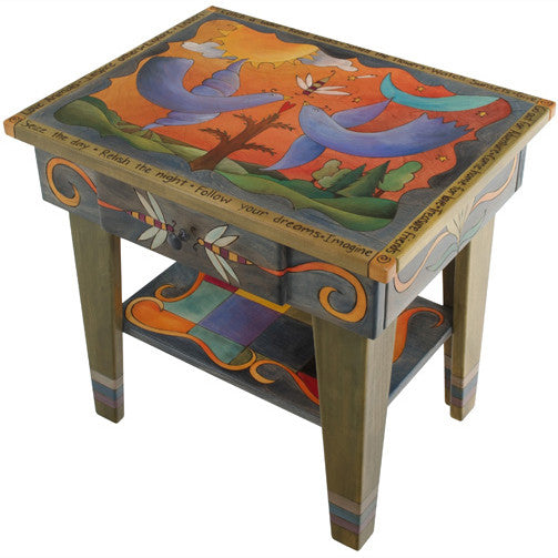 Sticks Accent Night Table NGT006 S313779, Artistic Artisan Designer Tables