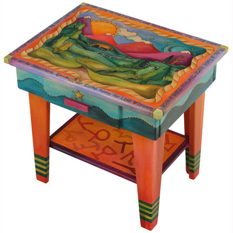Sticks Accent Night Table NGT006 S36289, Artistic Artisan Designer Tables