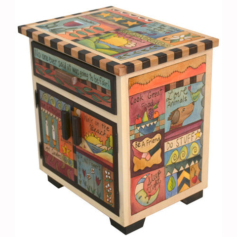 Sticks Accent Night Table NGT011 D78043, Artistic Artisan Designer Tables
